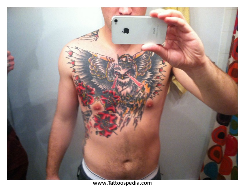 Owl tattoo with clock meaning 9 for What does a clock tattoo mean