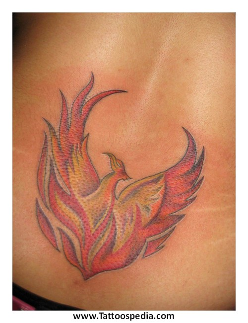 Phoenix Tattoo With Flames 2