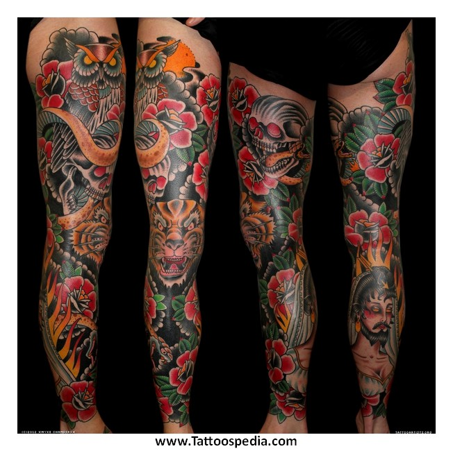 Leg sleeve tattoo ideas for women 2 for Tattoo sleeve ideas for women