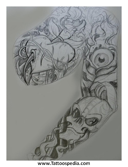 78c770273 Sleeve Tattoos Sketches 3