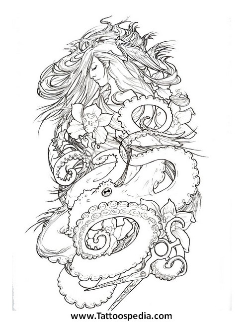 Tattoo quarter sleeve template 5 for Designing a sleeve tattoo template