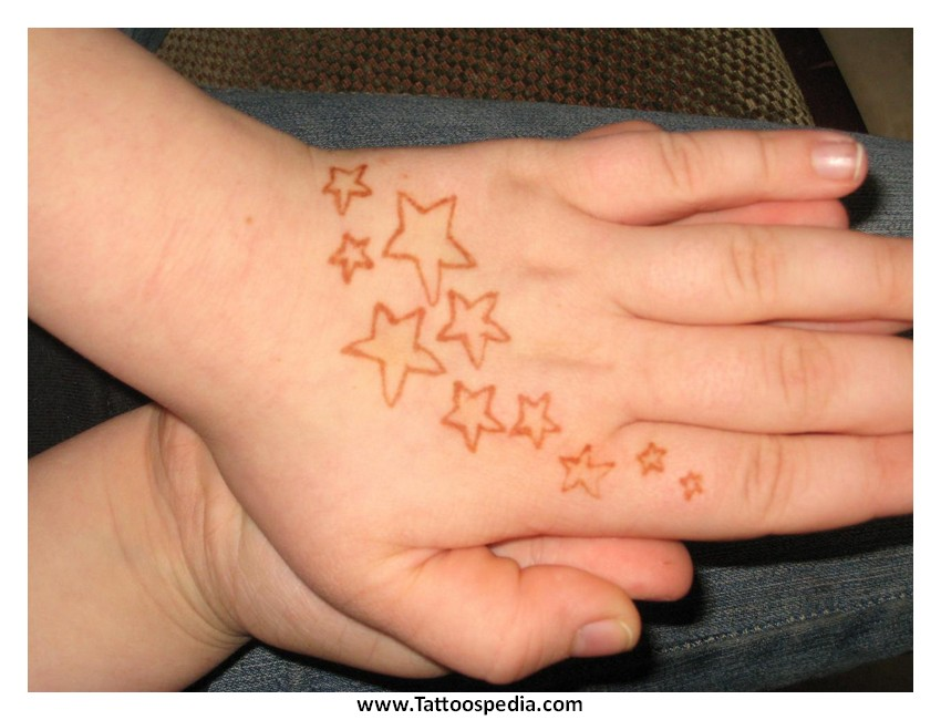 Star Tattoos Hand 3