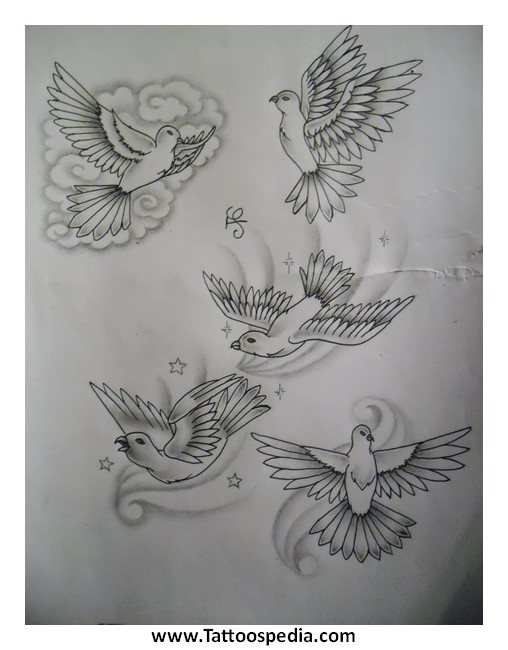2 doves tattoo designs 3 for Two doves tattoo