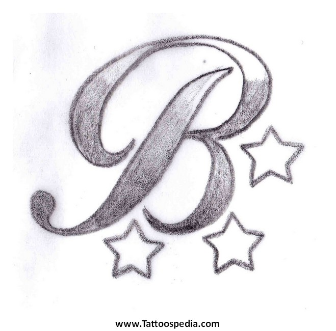 letter b tattoos designs 1