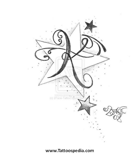 Letter P Tattoo Designs 4
