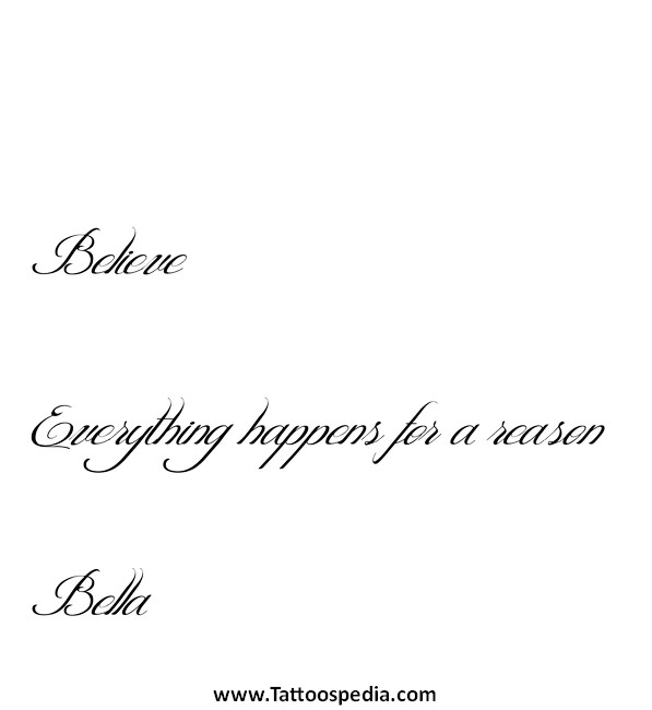 Tattoo ideas everything happens for a reason 2 tattoo ideas everything happens for a reason 2 urmus Image collections