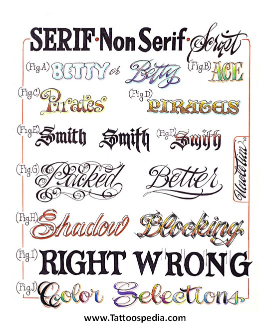 Tattoo Designs For Women Lettering 3