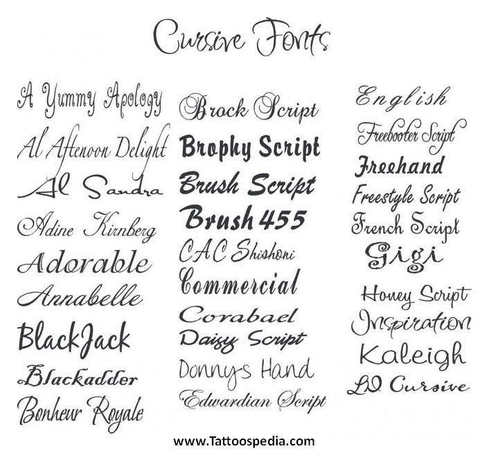 Tattoo Lettering Alphabet Fonts 3