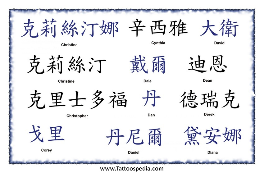 Tattoo Lettering Chinese 9
