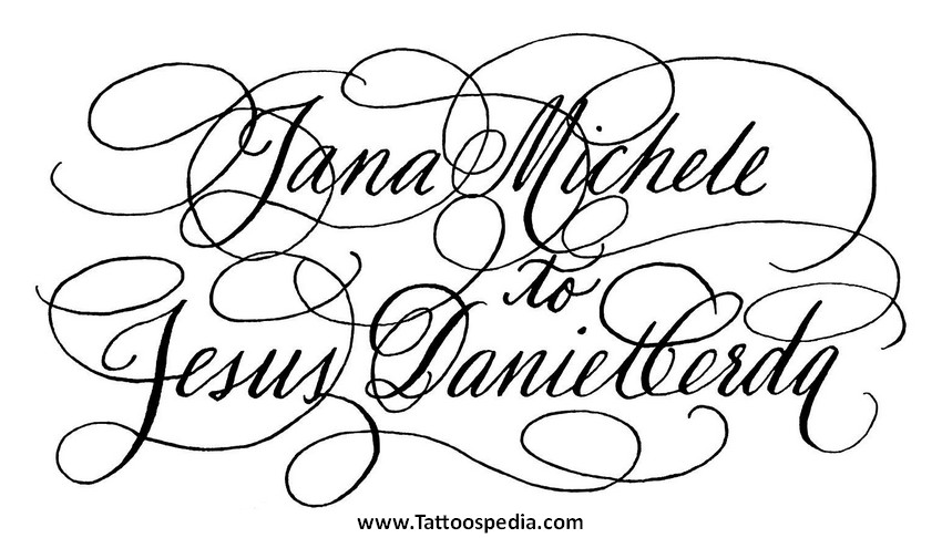 Tattoo Lettering Font Space 10 |