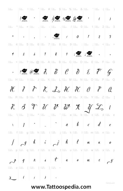 Tattoo Lettering Font Space 6 |