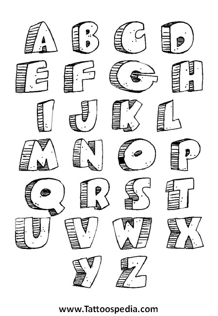 Tattoo Lettering Fonts A Z 7