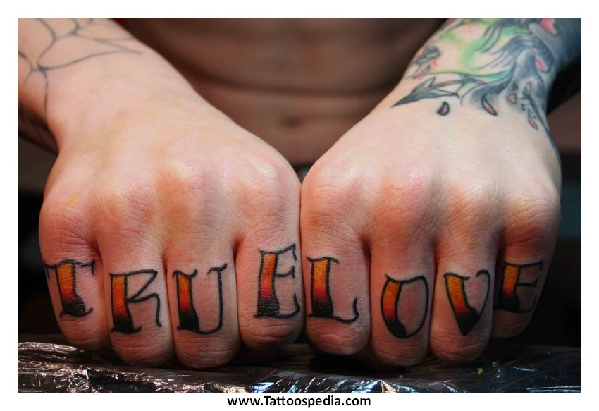 Tattoo lettering knuckles 6 for Knuckle tattoo font