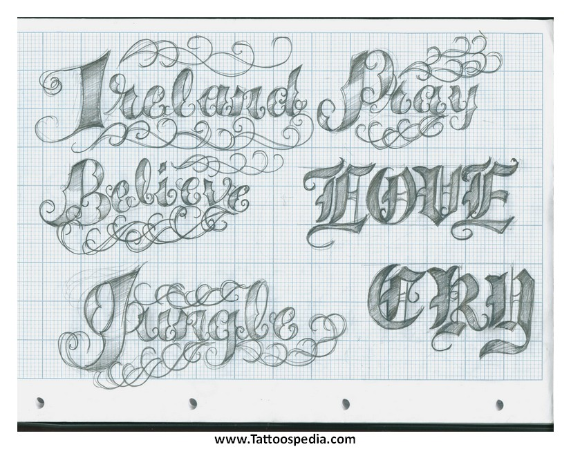 Tattoo Lettering Styles 3