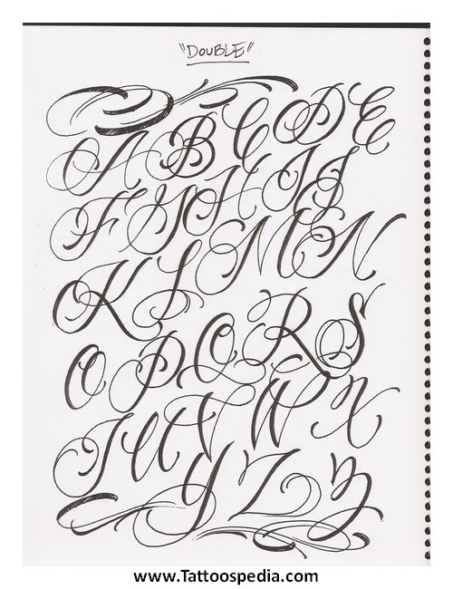 Tattoo Lettering Template 1