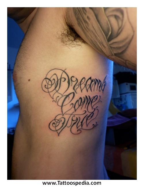 Tattoos of lettering on ribs 1 for Tattoo writing on ribs