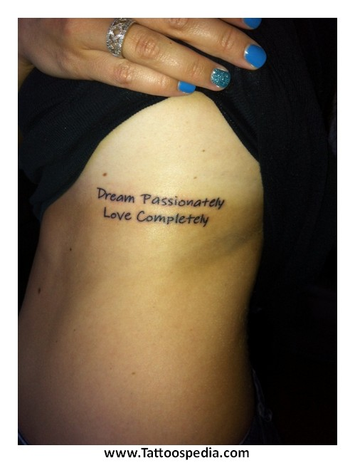 Girl Tattoo Quotes On Side 2 |