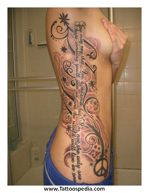 Tattoos For Girls Ribs Quotes 4 |