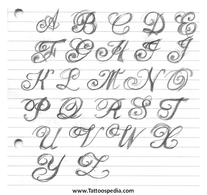 Tattoo fonts alphabet 3 tattoo fonts alphabet 3 thecheapjerseys Images