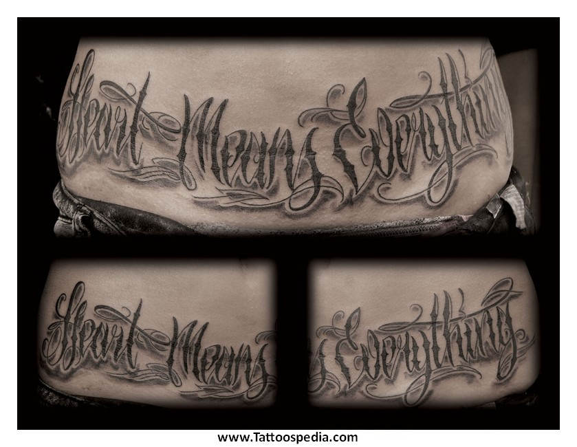 Tattoo Fonts Gangster Style 2
