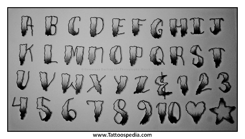 Tony baxter for Knuckle tattoo font