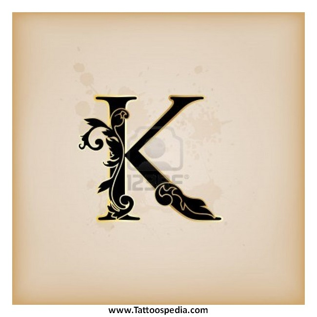 tattoo fonts letter k 1. Black Bedroom Furniture Sets. Home Design Ideas