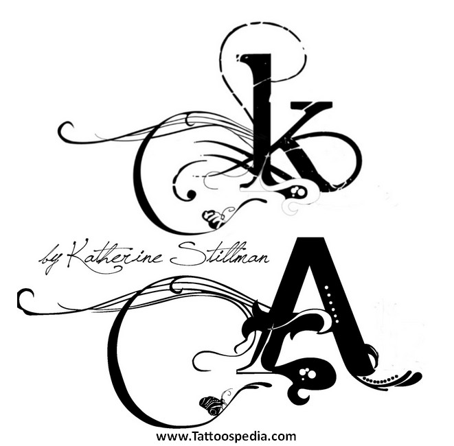 tattoo fonts letter k 2. Black Bedroom Furniture Sets. Home Design Ideas