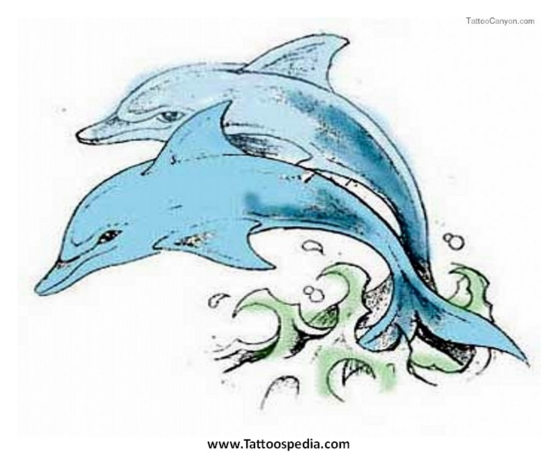 Tattoospedia for What does a dolphin tattoo symbolize