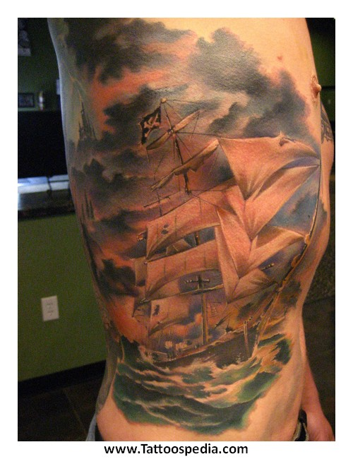Tattoo meaning pirate ship 1 for Pirate tattoo meaning