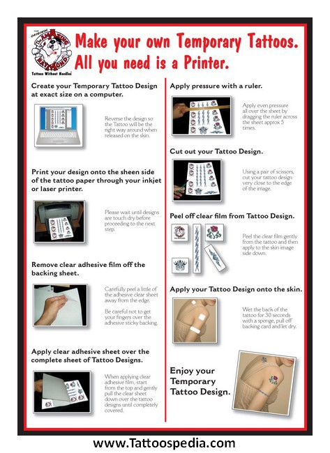 Temporary tattoo laser printer paper 3 for How to make temporary tattoos with printer