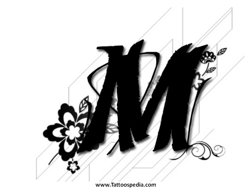 Letter m tribal tattoo 1 letter m tribal tattoo 1 altavistaventures Gallery