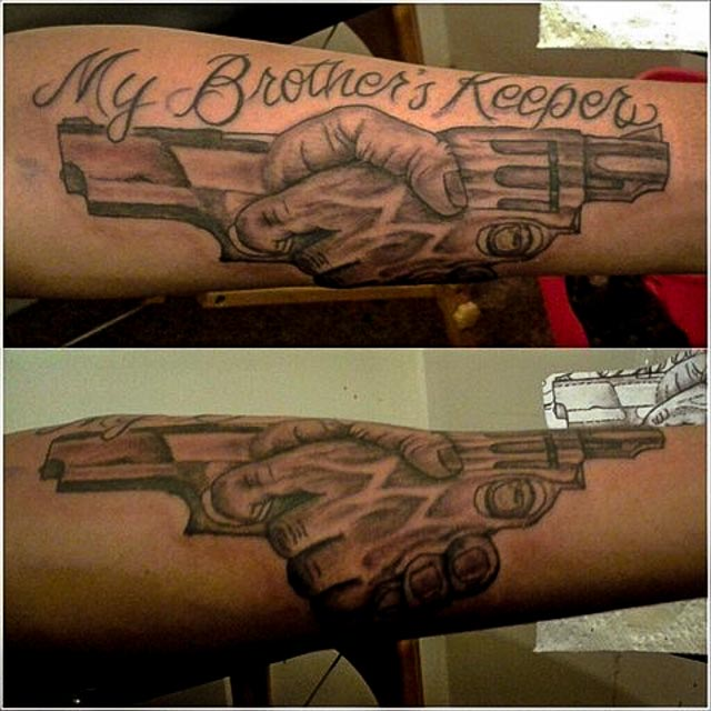 my brothers keeper tattoos. Black Bedroom Furniture Sets. Home Design Ideas