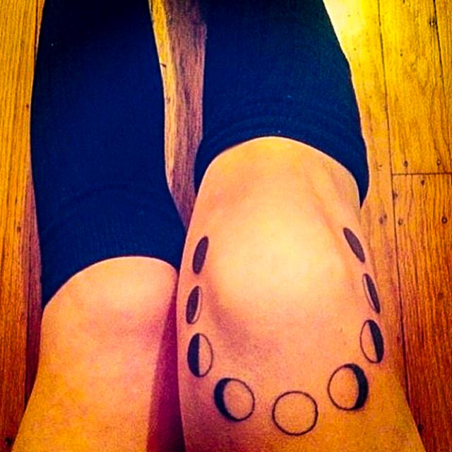 phases of the moon tattoo 01