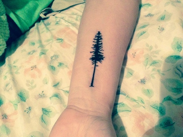 Evergreen tree tattoo for Evergreen tree tattoo