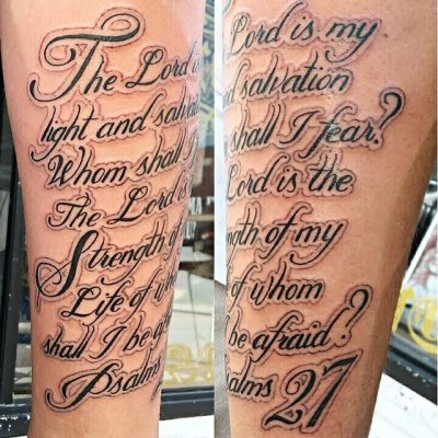 Bible verse tattoos tattoospedia for Scripture tattoos for men on arm